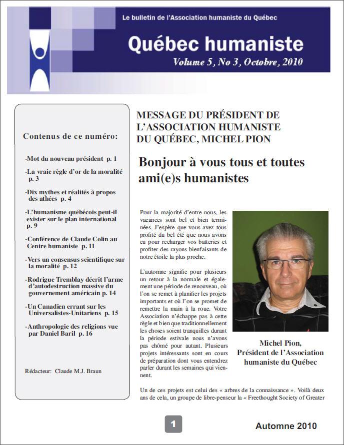 Québec humaniste automne 2010