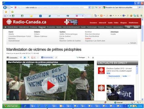 Page web de Radio-Canada