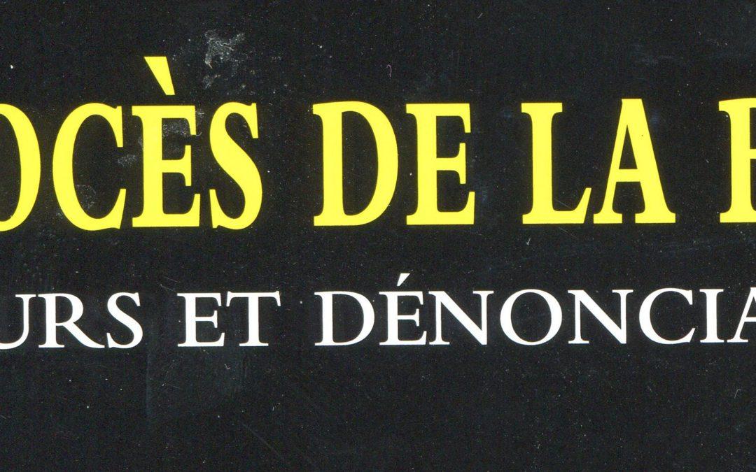 Nouvelle parution – Le procès de la Bible de Normand Rousseau